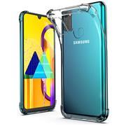 Anti Shock Hülle für Samsung Galaxy M30s Schutzhülle mit verstärkten Ecken Transparent Case