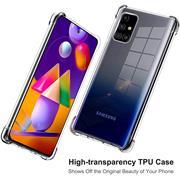 Anti Shock Hülle für Samsung Galaxy M31s Schutzhülle mit verstärkten Ecken Transparent Case