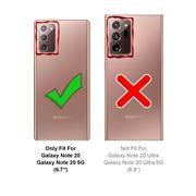 Anti Shock Hülle für Samsung Galaxy Note 20 Schutzhülle mit verstärkten Ecken Transparent Case