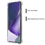 Anti Shock Hülle für Samsung Galaxy Note 20 Ultra Schutzhülle mit verstärkten Ecken Transparent Case