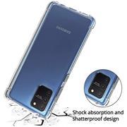 Anti Shock Hülle für Samsung Galaxy S10 Lite Schutzhülle mit verstärkten Ecken Transparent Case