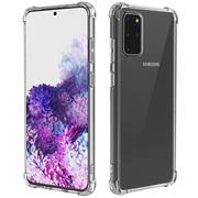 Anti Shock Hülle für Samsung Galaxy S20 Plus Schutzhülle mit verstärkten Ecken Transparent Case
