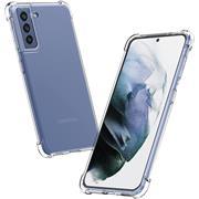 Anti Shock Hülle für Samsung Galaxy S21 Schutzhülle mit verstärkten Ecken Transparent Case