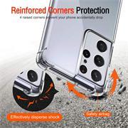 Anti Shock Hülle für Samsung Galaxy S21 Ultra Schutzhülle mit verstärkten Ecken Transparent Case