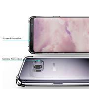 Anti Shock Hülle für Samsung Galaxy S8 Plus Schutzhülle mit verstärkten Ecken Transparent Case