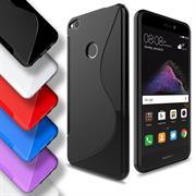 Silikon Hülle für Huawei P8 Lite 2017 Case Handy Case Cover Tasche mit seitlichem Grip