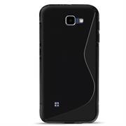 Silikon Hülle für LG Bello 2 Case elastisches Handy Cover Tasche mit seitlichem Grip
