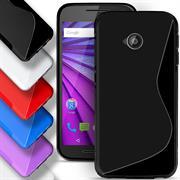 Silikon Hülle für Motorola Moto E 2.Gen. Case Handy Cover Tasche mit seitlichem Grip