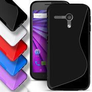 Silikon Hülle für Motorola Moto G 2.Gen. Case Handy Cover Tasche mit seitlichem Grip