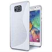Handy Hülle für Samsung Galaxy Alpha Backcover Silikon Case