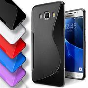 Silikon Hülle für Samsung Galaxy J7 2016 J710 Handy Case Cover Tasche mit seitlichem Grip