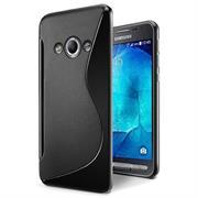 Silikon Hülle für Samsung Galaxy XCover 3 Handy Case Cover Tasche mit seitlichem Grip