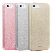 Glitzer Silikon Schutz Hülle für Apple iPhone 5 / 5S / SE Handy Case
