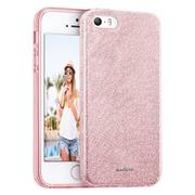 Schutzhülle für Apple iPhone 5 5S SE Hülle Silikon Glitzer Case Slim Cover Tasche