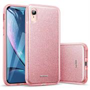 Glitzer Silikon Schutz Hülle für Apple iPhone XR Backcover Handy Case
