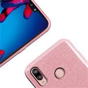 Glitzer Silikon Schutz Hülle für Huawei P20 Lite Handy Case