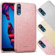 Glitzer Silikon Schutz Hülle für Huawei P20 Handy Case