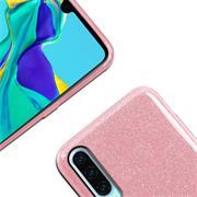 Glitzer Silikon Schutz Hülle für Huawei P30 Handy Case