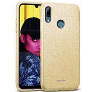 Glitzer Silikon Schutz Hülle für Huawei P Smart 2019 Handy Case