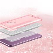 Handy Case für Samsung Galaxy A02s Hülle Glitzer Cover TPU Schutzhülle