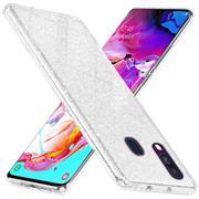 Glitzer Silikon Schutz Hülle für Samsung Galaxy A20e Handy Case