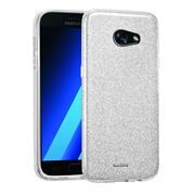 Glitzer Silikon Schutz Hülle für Samsung Galaxy A3 2017 Handy Case