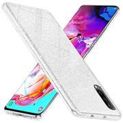 Glitzer Silikon Schutz Hülle für Samsung Galaxy A70 Handy Case