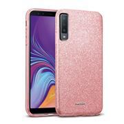 Handy Hülle Samsung Galaxy A7 2018 Schutz Hülle Silikon Cover Glitzer Case Slim Tasche