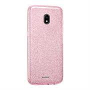 Handy Hülle Samsung Galaxy J3 2017 J330 Schutz Hülle Silikon Cover Glitzer Case Slim Tasche