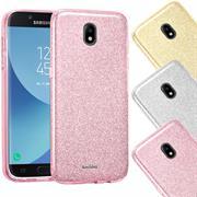 Handy Hülle Samsung Galaxy J5 2017 J530 Schutz Hülle Silikon Cover Glitzer Case Slim Tasche