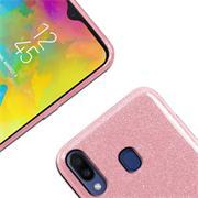 Glitzer Silikon Schutz Hülle für Samsung Galaxy M20 Handy Case