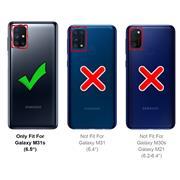 Handy Case für Samsung Galaxy M31s Hülle Glitzer Cover TPU Schutzhülle