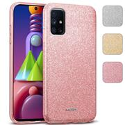 Handy Case für Samsung Galaxy M51 Hülle Glitzer Cover TPU Schutzhülle