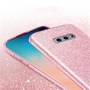 Glitzer Silikon Schutz Hülle für Samsung Galaxy S10e Handy Case