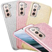 Handy Case für Samsung Galaxy S21 Hülle Glitzer Cover TPU Schutzhülle