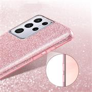 Handy Case für Samsung Galaxy S21 Ultra Hülle Glitzer Cover TPU Schutzhülle