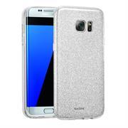 Handy Hülle Samsung Galaxy S7 Edge Schutz Hülle Silikon Cover Glitzer Case Slim Tasche
