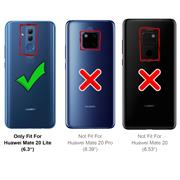 TPU Hülle für Huawei Mate 20 Lite Case Silikon Cover Transparent mit Farbrand Handyhülle