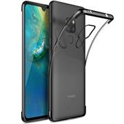 TPU Hülle für Huawei Mate 20 Case Silikon Cover Transparent mit Farbrand Handyhülle