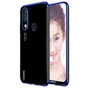 TPU Hülle für Huawei P20 Lite Case Silikon Cover Transparent mit Farbrand Handyhülle