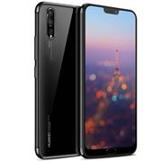 TPU Hülle für Huawei P20 Pro Case Silikon Cover Transparent mit Farbrand Handyhülle