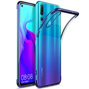 TPU Hülle für Huawei P30 Case Silikon Cover Transparent mit Farbrand Handyhülle