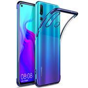 TPU Hülle für Huawei P30 Lite Case Silikon Cover Transparent mit Farbrand Handyhülle
