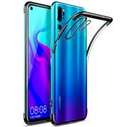 TPU Hülle für Huawei P30 Pro Case Silikon Cover Transparent mit Farbrand Handyhülle