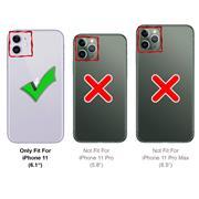 TPU Hülle für Apple iPhone 11 Case Silikon Cover Transparent mit Farbrand Handyhülle