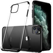 TPU Hülle für Apple iPhone 11 Pro Case Silikon Cover Transparent mit Farbrand Handyhülle