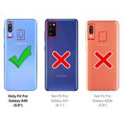TPU Hülle für Samsung Galaxy A40 Case Silikon Cover Transparent mit Farbrand Handyhülle