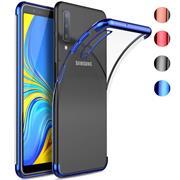 Silikonhülle für Samsung Galaxy A7 2018 Handy Hülle Tasche Transparent Slim Case