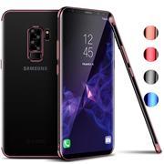 TPU Hülle für Samsung Galaxy J3 2017 Case Silikon Cover Transparent mit Farbrand Handyhülle