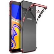 Silikonhülle für Samsung Galaxy J4 Plus Handy Hülle Tasche Transparent Slim Case